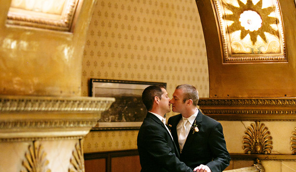 A Classic Gay Wedding with Vintage Keys!
