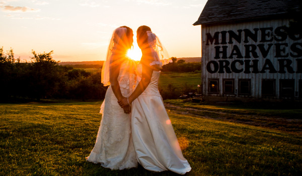Same-sex Wedding at an Apple Orchard!
