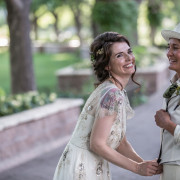 Same sex vintage wedding in Albuquerque, New Mexico