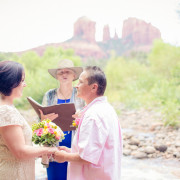 Intimate LGBT Ceremony at Red Rock Crossing in Sedona, Arizona