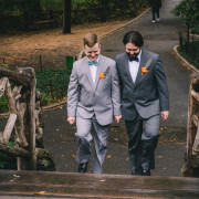 Same-sex destination wedding in New York City.
