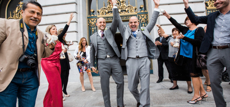 Intimate Same Sex Ceremony at San Francisco City Hall