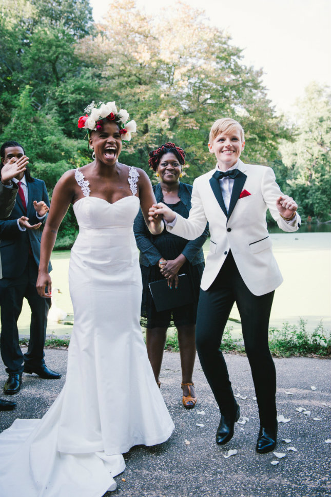 Elegance On Point If You Want To Wear A Suit Your Wedding Day Go The Route This Bride Did Splurge Custom Tailored