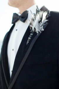 Feathered Boutonniere