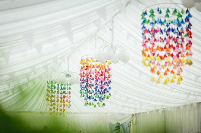 rainbow-themed wedding