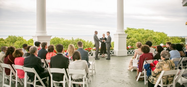 Elegant Gay Wedding in Mackinac Island