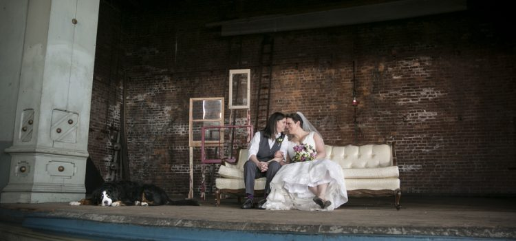 Vintage Wedding at Howell Opera House theatre in Historic Howell, MI