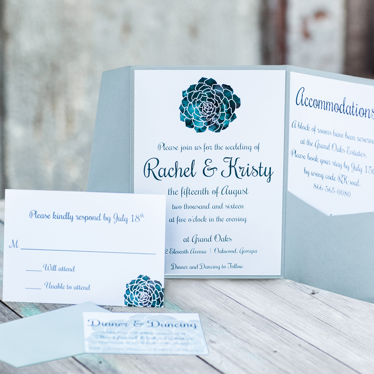 succulent invitations
