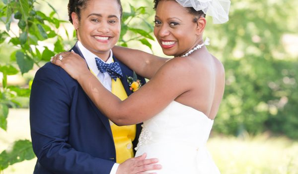 Romantic Blue and Gold Wedding