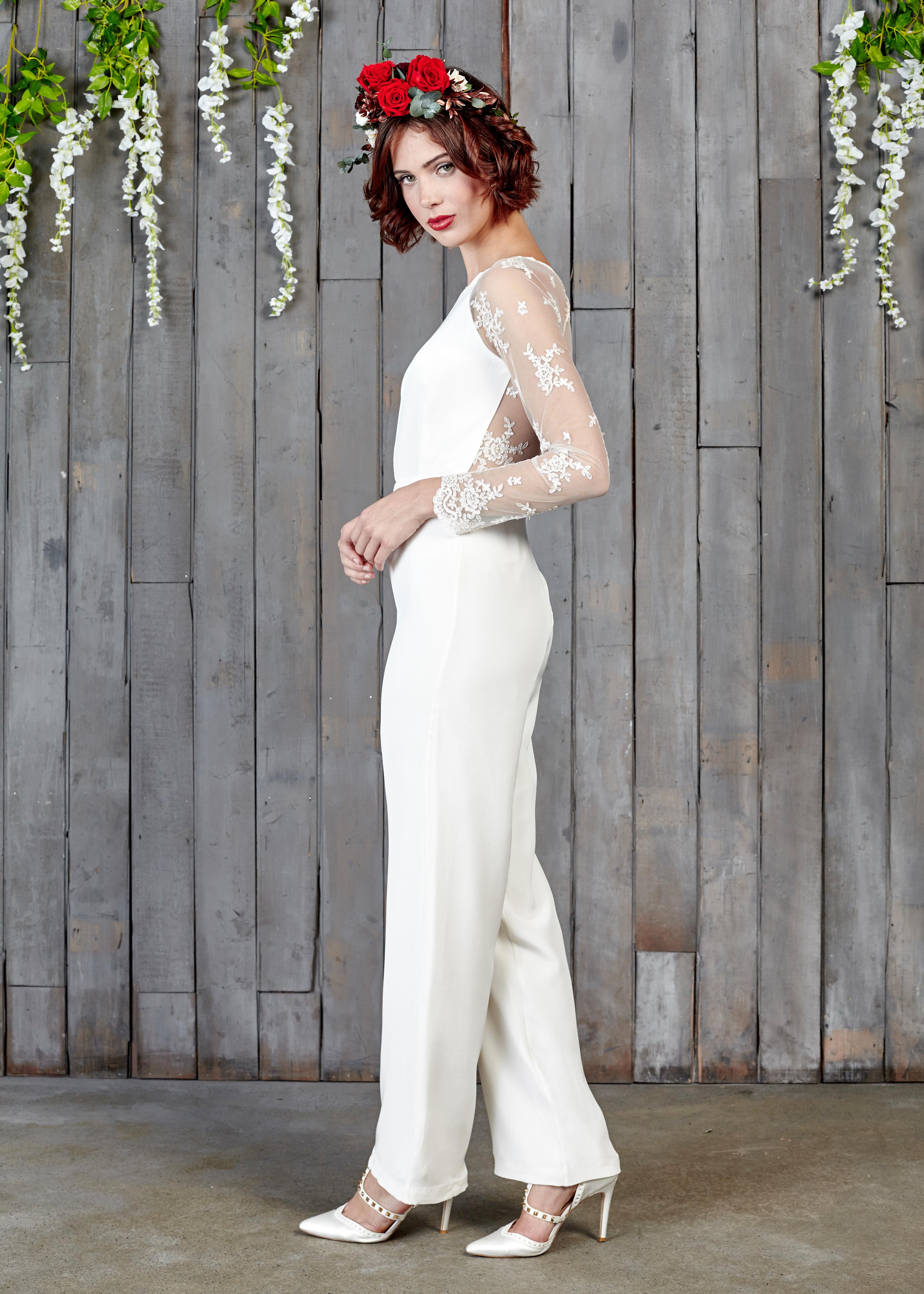 1d2ae8e755 Luxury Bridal Jumpsuits and Two-pieces You ll LOVE!