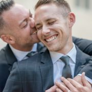 Beautiful Backyard Gay Wedding
