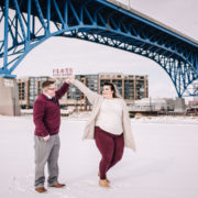 Winter Wonderland Cleveland Engagement